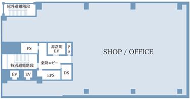 2F-12F 平面図
